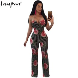 391f87b54808 Rompers Womens Floral Jumpsuit 2018 Summer Long Jumpsuits Sexy Stripped Strapless  Black Rompers for Woman Plus Size inexpensive plus size strapless rompers