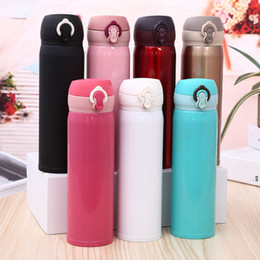 bounce cup Coupons - Originality Gift Portable Lock Bouncing Stainless Steel Insulation Vacuum Cup Thermos Coffee Mug Travel Bottle Universal Customizable LOGO