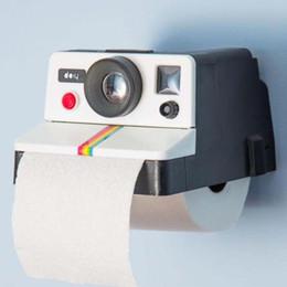 Wholesale toilet cameras - 1 Piece Creative Retro Camera Shape Inspired Tissue Boxes Toilet Roll Paper Holder Box Bathroom Decor