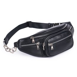 Wholesale chest for women - Genuine Leather Waist Bag Women Waist Pack Bag Funny Pack Belt Chest Female Chain Small Travel Bags for Phone DF0301
