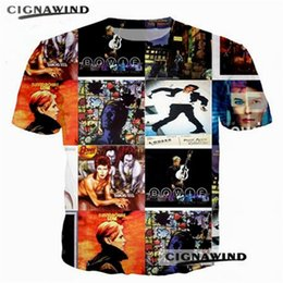 f236d72bfdb Hot sell summer tide T-shirts men women Rock star David Bowie 3D printing t  shirt casual hip hop tshirt streetwear unisex tops top star wholesale on  sale