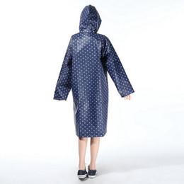 f317b12a405 Fashion Women Waterproof Raincoat Dot Long Ladies Raincoat Over Knee With  Hood +Packing Pouch Pocket Poncho Coat Rainwear
