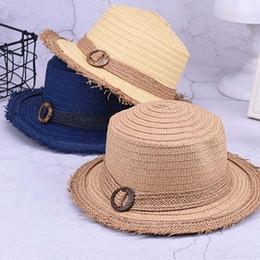 2019 bordi d'erba Cappelli estivi da spiaggia cappello da paglia di paglia con cappello di paglia, cappello da sole, cappello di paglia, cappello da sole, cappello da sole, cappello da sole sconti bordi d'erba