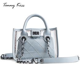 сумки для детей сумки на плечо сумки Скидка женщины желе мешок transparant тотализатор сумки женский 2018 новый пакет дикий диагональ цепи ребенок женский сумка
