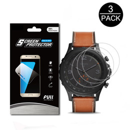 Wholesale Q Watches - 3Pack For Fossil Q Nate 7H Explosion-proof Screen Protector High Definition Anti-shock SmartWatch Guard Shield Cover Skin Film