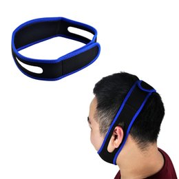 Wholesale Anti Snoring Chin Strap - Anti Snoring Chin Strap Neoprene Stop Snoring Chin Support Belt Anti Apnea Jaw Solution Sleep Device Wholesale 0613001