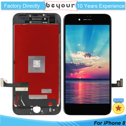 Wholesale Cell Phone Replacement Screen - For iPhone 8 8G LCD Screen 4.7 Replacement Cell Phone Digitizer Assembly Display Frame with 3D Touch White Black
