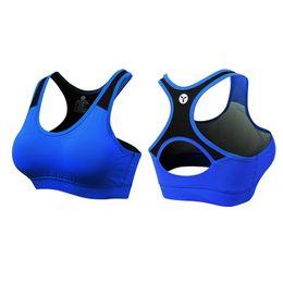Lycra sutiã desportivo on-line-2018 Plus Size Sutiã Esportivo Mulheres Tanques Breatheable T shirt Dry fit colete com acolchoado confortável bras de compressão jersey