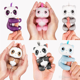 Wholesale Wholesale Kids Plastic Toys - Newest Finger Panda the Unicorn Sloth Finger Electronic Smart Touch Fingers Interactive Monkey Finger Toy Party Favor With Retail Package