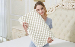Wholesale Particle Design - 100% Natural Latex Pillow Hyirol Design for your well-being Neck Pillow Sleep Cervical Massage Pillow Particles Breathable Comfortable KM002