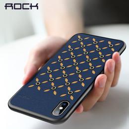 Телефон рок-корпусов онлайн-Для iPhone Xs Xr Xs Max ROCK Тонкий чехол из искусственной кожи Защитный чехол для телефона Coque Полный защитный чехол для телефона Назад
