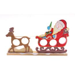 Mestieri di vacanza diy online-Color Elk Sledding Ornaments Craft Fai da te in legno Pendenti di Natale Holiday Decor Regali di Natale Ornamento in legno Decorazione Navidad