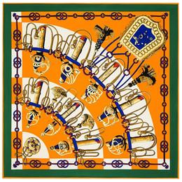 lenço listrado branco azul Desconto Cachecol Lenço De Seda do desenhador Para As Mulheres 39.4 polegada Lenços Grandes Lenço para As Mulheres Cachecóis Wraps Lenço de Cabelo Bandana Impressão Da Manta Estampa Floral