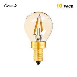 Wholesale Gold Bulbs - Antique LED Filament Bulb Gold Tint G40 Globe 1W E12 E14 Base Super Warm 2200K Decorative Lighting Dimmable