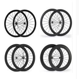 Wholesale Carbon Bike 88mm Wheelset - 700C 24mm 38mm 50mm 60mm 88mm Clincher Tubular 23mm Width 3K Carbon Wheels Road Bike Bicycle Wheel Racing Touring Wheelset