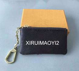 Canada 4 couleur KEY POUCH Damier cuir détient de haute qualité célèbre designer classique femmes porte-clés porte-monnaie petit cuir porte-clés Offre