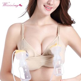 f90724f77e 2018 Maternity Bra Cotton Maternity Bra For Nursing Push Up Hands Free Breast  Pump Breast Feeding Underwear