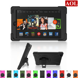 Wholesale Kindle Bundle - Hybrid Tablet Case For Kindle Fire HD8 2016 2017 8.0 Shockproof Defender Armor 360 Degree Heavy Duty Cases with hand strap AT01