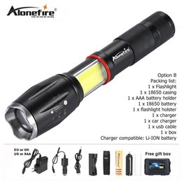 18650 BAT UK 2000Lm Tactical T6 LED Flashlight Aluminum Torch Zoomable 5 Modes