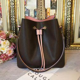 2019 malas único queque NEONOE sacos de ombro Noé balde de couro saco de mulheres famosas marcas de designer de Moda bolsas flor impressão bolsa cruzada TWIST