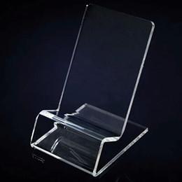 acrylhalter telefon Rabatt Universeller allgemeiner klarer transparenter Acryleinfassungs-Halter-Ausstellungsstand gezeigt für Telefon Mobiltelefon-Handy STY028