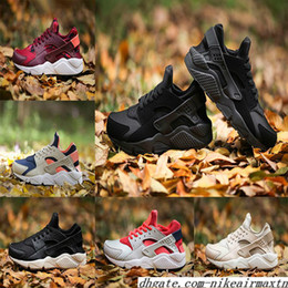 Wholesale camouflage canvas shoes - 2018 Air Huarache 1 .0 Sneaker Running shoes Huraches Breathable Camouflage Trainers For Men And Women Outdoors Shoes Huaraches Size 36-45