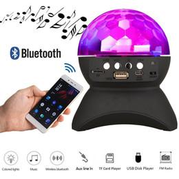 Wholesale wireless dj speakers - Home Party Light Speaker LED Rotating Crystal Magic Ball DJ Stage Lighting Wireless Bluetooth Stereo Speaker Support USB MicroSD TF card