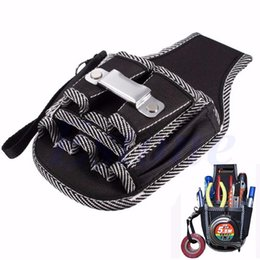 Wholesale tools waist pouch - Wholesale-9in1 Electrician Waist Pocket Belt Tool Pouch Bag Screwdriver Utility Kit Holder