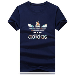 0363a2e0f451 Venta al por mayor Nueva marca de ropa de lujo camiseta de los hombres de  las mujeres S-4XL manga corta para hombre T Shirt Tee cuello O camiseta  impresión ...