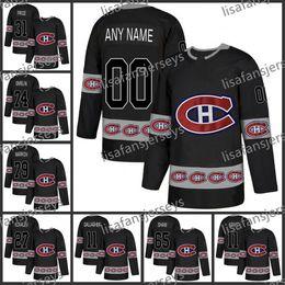 montreal canadiens trikot schwarz Rabatt Mens maßgeschneiderte Montreal Canadiens 2019 neue Marke genäht benutzerdefinierte schwarz personalisierte Eishockey bestickte Trikots S-XXXL