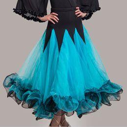 Wholesale tango dresses for women - Ballroom Dance Skirts CHEAPEST Standard Ballroom Dress for Waltz Tango Dance Flamenco 8 Colors D0421 Big Hem Meryl Sheer