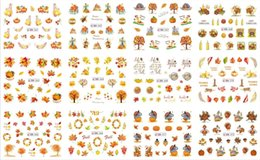 2019 nail-art-trends 12 Blatt / pack Yellow Maple Nail art Aufkleber Kawaii Blatt Nailart Wasser Decals Herbst Maniküre Decoratitions Türkei Neue 3d Trends rabatt nail-art-trends