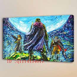 Wholesale Van Gogh Framed Print - Van Gogh Super Soldier HD Canvas Prints Wall Art Oil Painting Home Decor  (Unframed Framed)