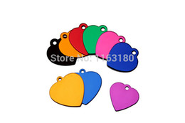 Wholesale Aluminium Cats - 12 pcs  lot Aluminium Engraved Tags for Pets Personalised for Dog, Cat, Pet, Puppy Kitten Collar Tag