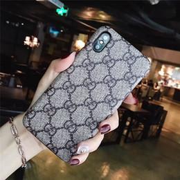 Canada Pour iPhone X XS Max XR 8 7 6 6 S Plus Marque De Luxe Grille Cas de Téléphone En Cuir Pour Galaxy S10 S10 S9 S8 Note 9 Note8 Hommes Fille Couverture Arrière cheap iphone covers for girls Offre