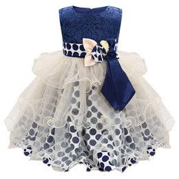 I bambini di ondeggiamento vestono online-MUQGEW Neonate Dress Dress Flower senza maniche Bowknot Wave Point Dress abbigliamento per bambini vestido infantil festa abiti da ragazza