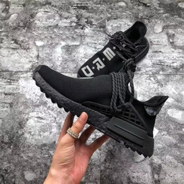 6f3466a76 Authentic Trail NMD Human Race HU Pharrell NERD Black White Running Shoes  For Men Women Authentic Sneakers Sports Shoes BB7603 With Original