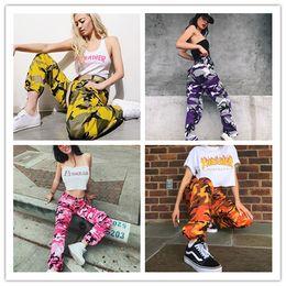 Wholesale Army Pants Girls - Fashion Girls Harem Hip Hop Dancing Pants Women Cotton Camouflage Pants Army Fatigue Cargo Capris Straight Multi-pocket Trousers