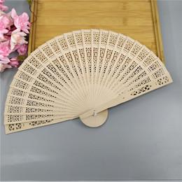Wholesale Folding Hand Fans Wood - Personalized silk screen wedding favors wood fan Chinese carved folding fragrance wood hand fan wedding fan