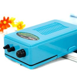 Wholesale Battery Oxygen - Use 10 Hours Dry Battery Cell Aquarium Air Pump Ultra Silent Single Outlet Battery Operated Fish Tank Oxygen Pump Air Stone