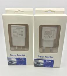iphone 4s tragbare ladegeräte Rabatt Top Qualität 5V 2A USB Ladegerät EU US Reiseadapter mit Kleinpaket für Samsung s5 s6 s7 s8