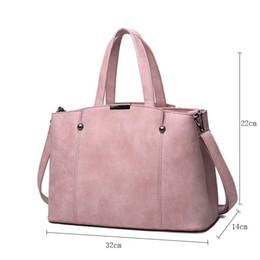 Wholesale Female Tops Sale - Hot Sale Nubuck Leather Women Top-Handle Bags Candy Color Female Shoulder Bag Rivet Women Bags