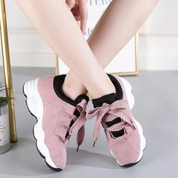 Las mejores zapatillas de invierno de las mujeres online-QEJEVI Los mejores zapatos para caminar para las mujeres al aire libre GYM atlético Correr entrenar Zapatos Carrera Correr Peso ligero Invierno Mujer