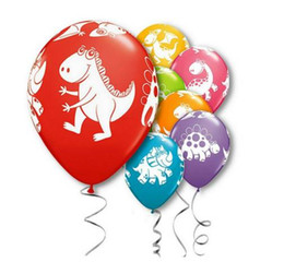 Воздушные шары с животными онлайн-12 дюймов Парк Юрского периода динозавр печатных животных латексные шары Baby Shower детский День Рождения украшения воздушные шары