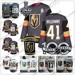 Wholesale Ryan White - Vegas Golden Knights #41 Pierre-Edouard Bellemare 38 Tomas Hyka 40 Ryan Carpenter 89 Alex Tuch Gray White 2018 Stanley Cup Inaugural Jerseys