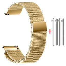correa de reloj de 14mm Rebajas Banda de reloj de acero inoxidable con correa 22/20/18/16 / 14MM Cintas magnéticas milanesas de acero inoxidable con correa de reloj
