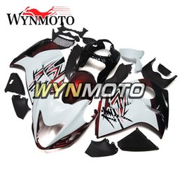 Wholesale Motorcycle Fairing Covers - Complete Fairings For Suzuki GSXR1300 Hayabusa 2008-2016 10 11 12 13 14 15 16 Injection Bodywork Motorcycle Fairing Cover White Red
