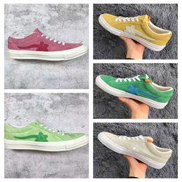 Wholesale women hip hop shoes - Men Designer Cheap Creator x One Star Ox Golf Le Fleur TTC Jolly Hip Hop Sneaker Trainers Shoes Canvas shoes For Women Men FOG With box