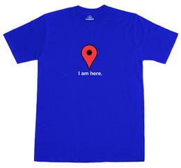 Новые карты онлайн-Я здесь Интернет Google Maps выродок смешные мужские свободные подходят хлопок новая футболка смешные бесплатная доставка унисекс повседневная футболка