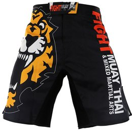 muay thai sanda Promo Codes - Summer New Mens Muay Thai Tigers Shorts Mixed Fitness Combat Workout Muay Thai Sanda Perspiration Quick-Drying